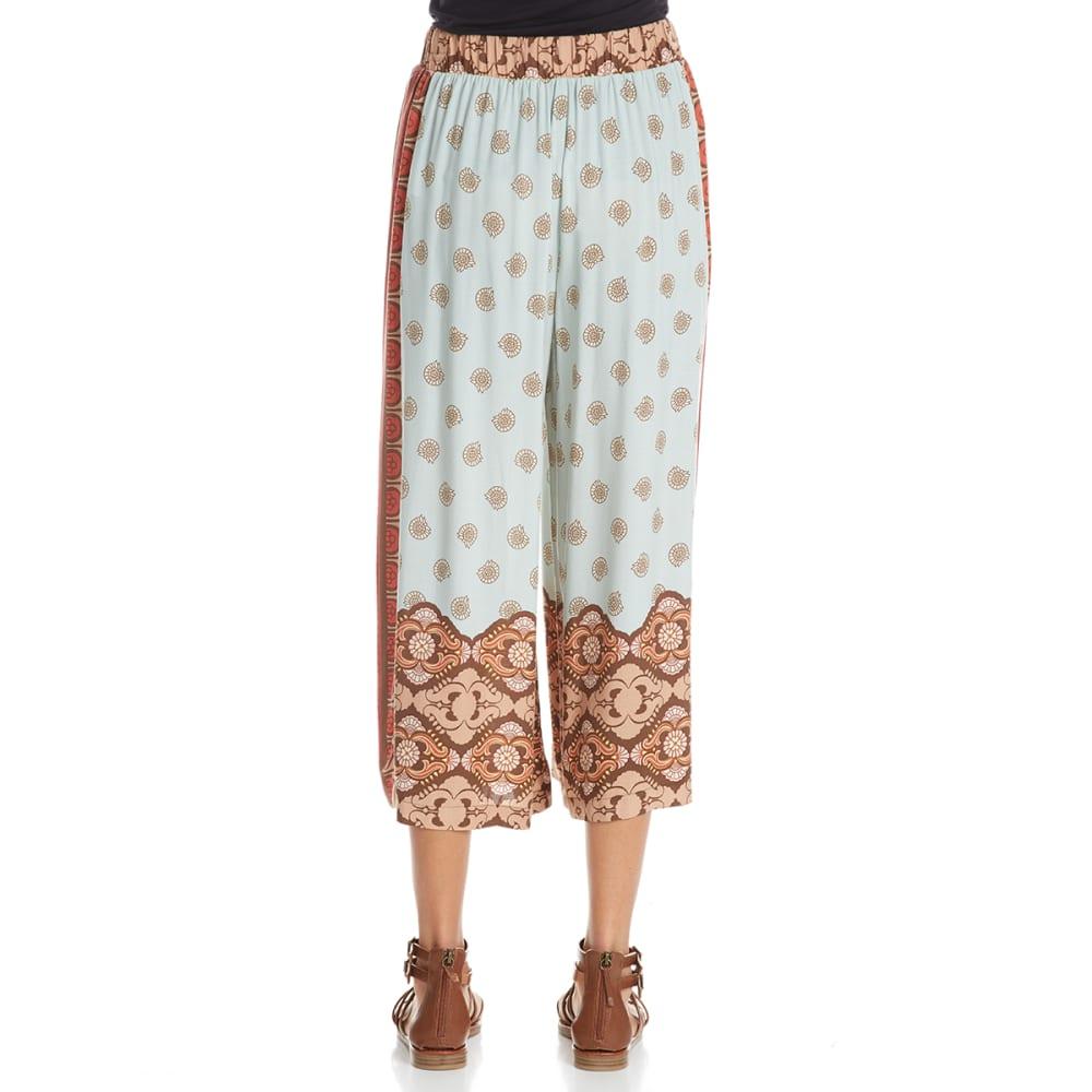 CRIMSON IN GRACE Women's Printed Pants - SEA-SEAFOAM