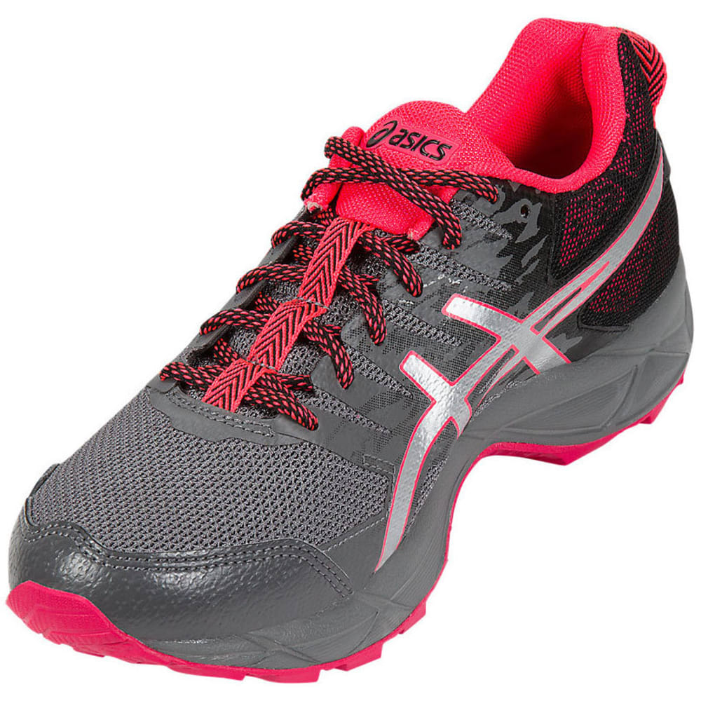 ASICS Women's GEL-Sonoma 3 Trail Running Shoes, Carbon/Silver/Diva Pink - GREY
