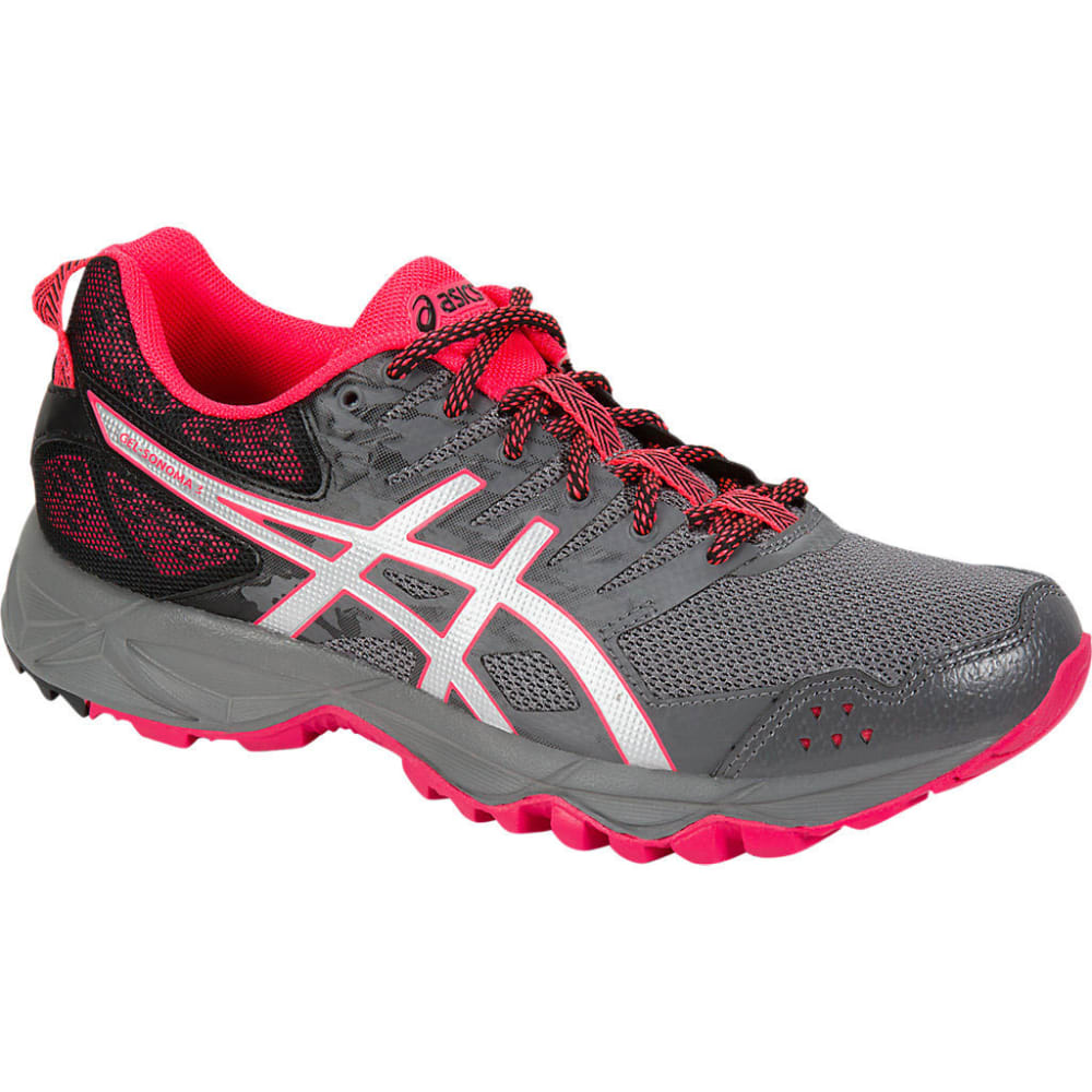 Asics Women's Gel-Sonoma 3 Trail Running Shoes, Carbon/silver/diva Pink - Black, 10