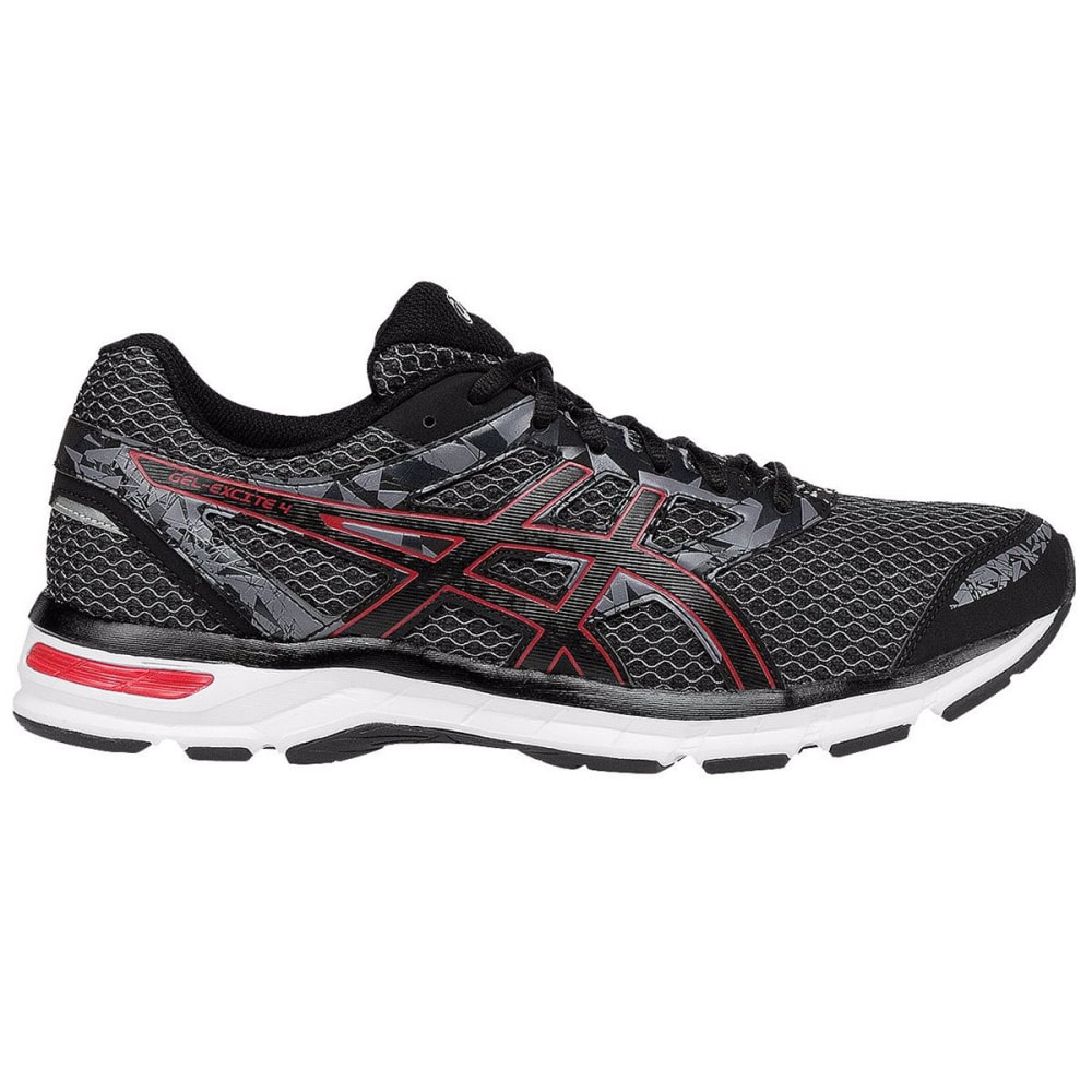 Asics Men's Gel-Excite 4 Running Shoes, Black/true Red/carbon