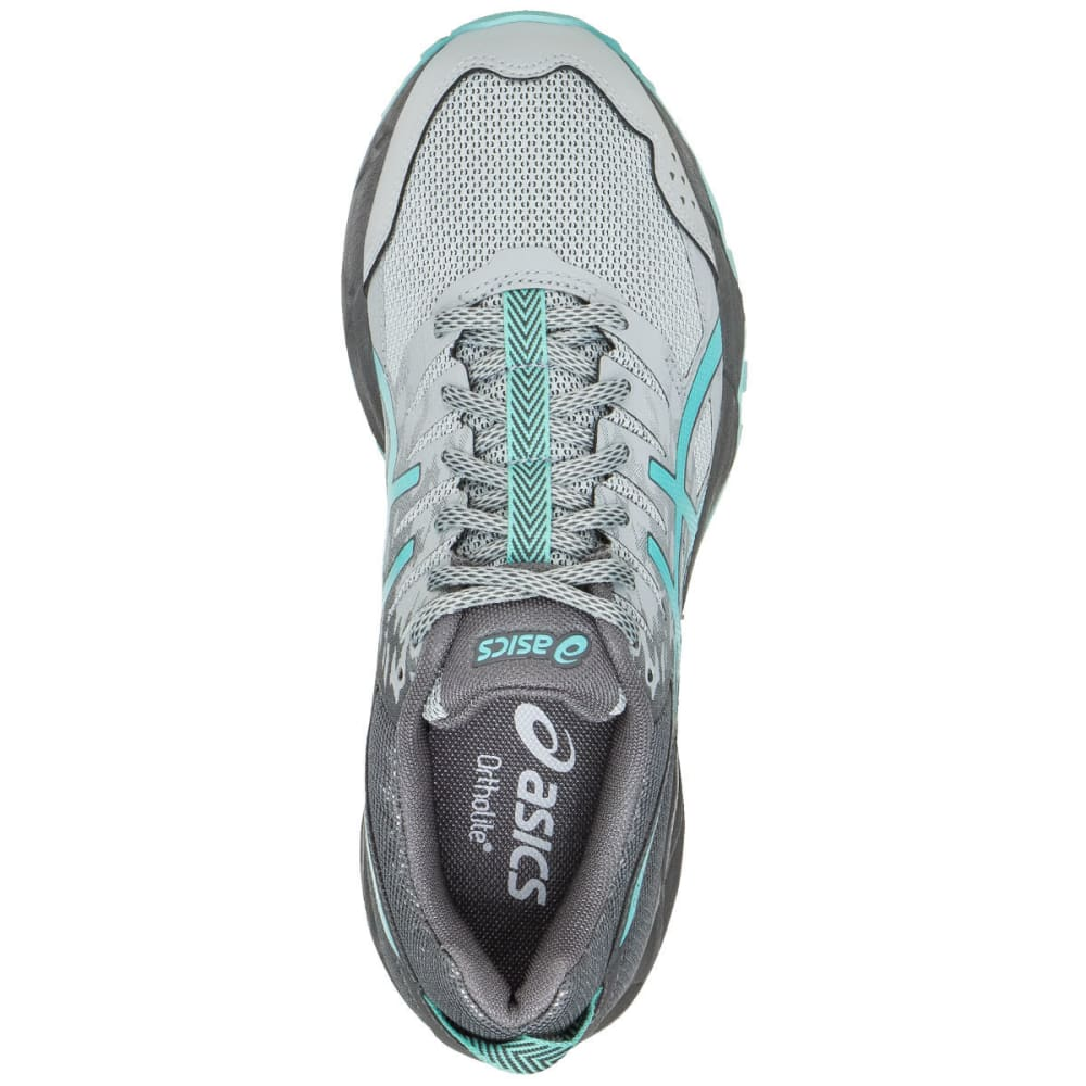 ASICS Women's GEL-Sonoma 3 Trail Running Shoes, Midgrey/Aqua Splash/Carbon, Wide - GREY