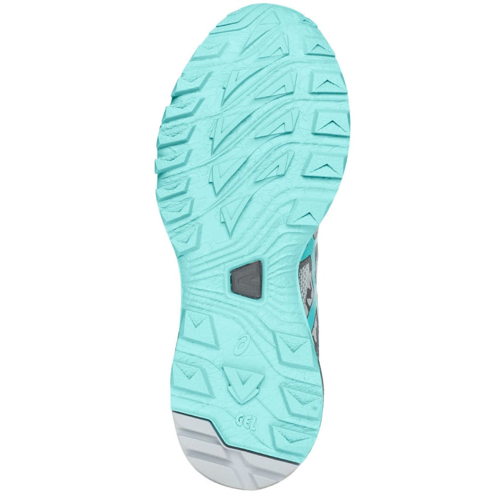 ASICS Women's GEL-Sonoma 3 Trail Running Shoes, Midgrey/Aqua Splash/Carbon, Wide - GREY