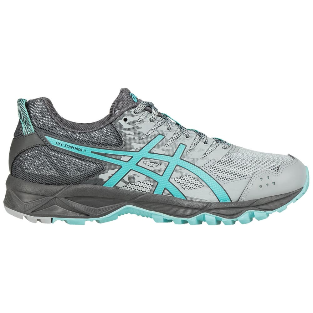 Asics Women's Gel-Sonoma 3 Trail Running Shoes, Midgrey/aqua Splash/carbon, Wide