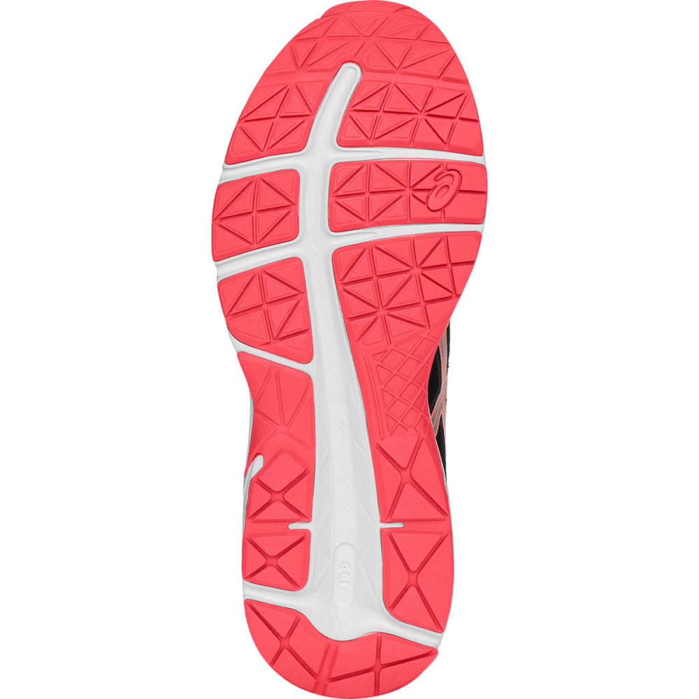 ASICS Women's Gel-Contend 4 Running Shoes, Black/Silver/Flash Coral - BLACK