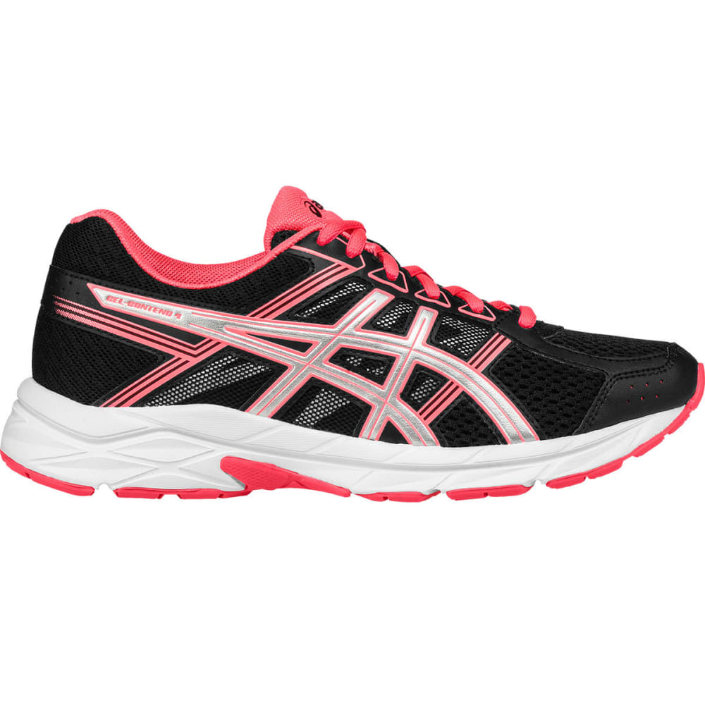 Asics Women's Gel-Contend 4 Running Shoes, Black/silver/flash Coral
