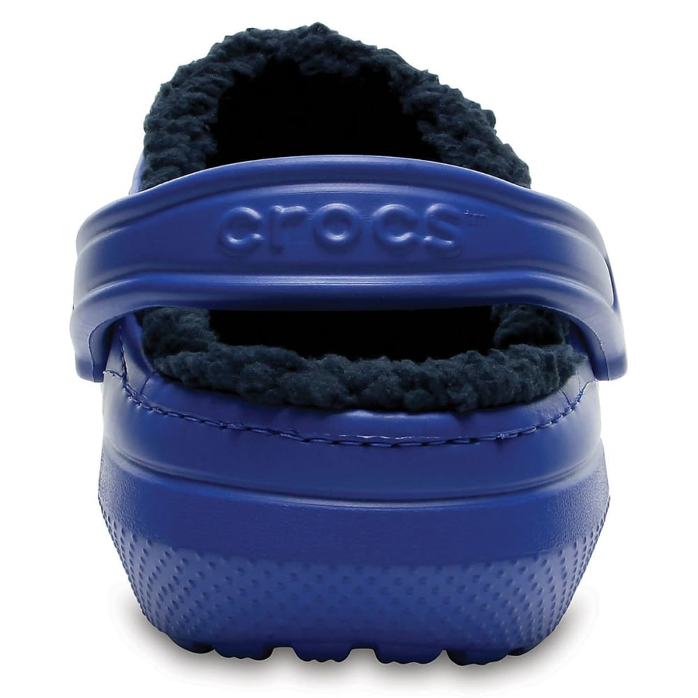 CROCS Unisex Classic Fuzz Lined Clogs, Blue Jean/Navy - BLUE/JEAN