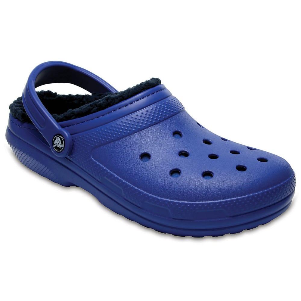 Crocs Unisex Classic Fuzz Lined Clogs, Blue Jean/navy