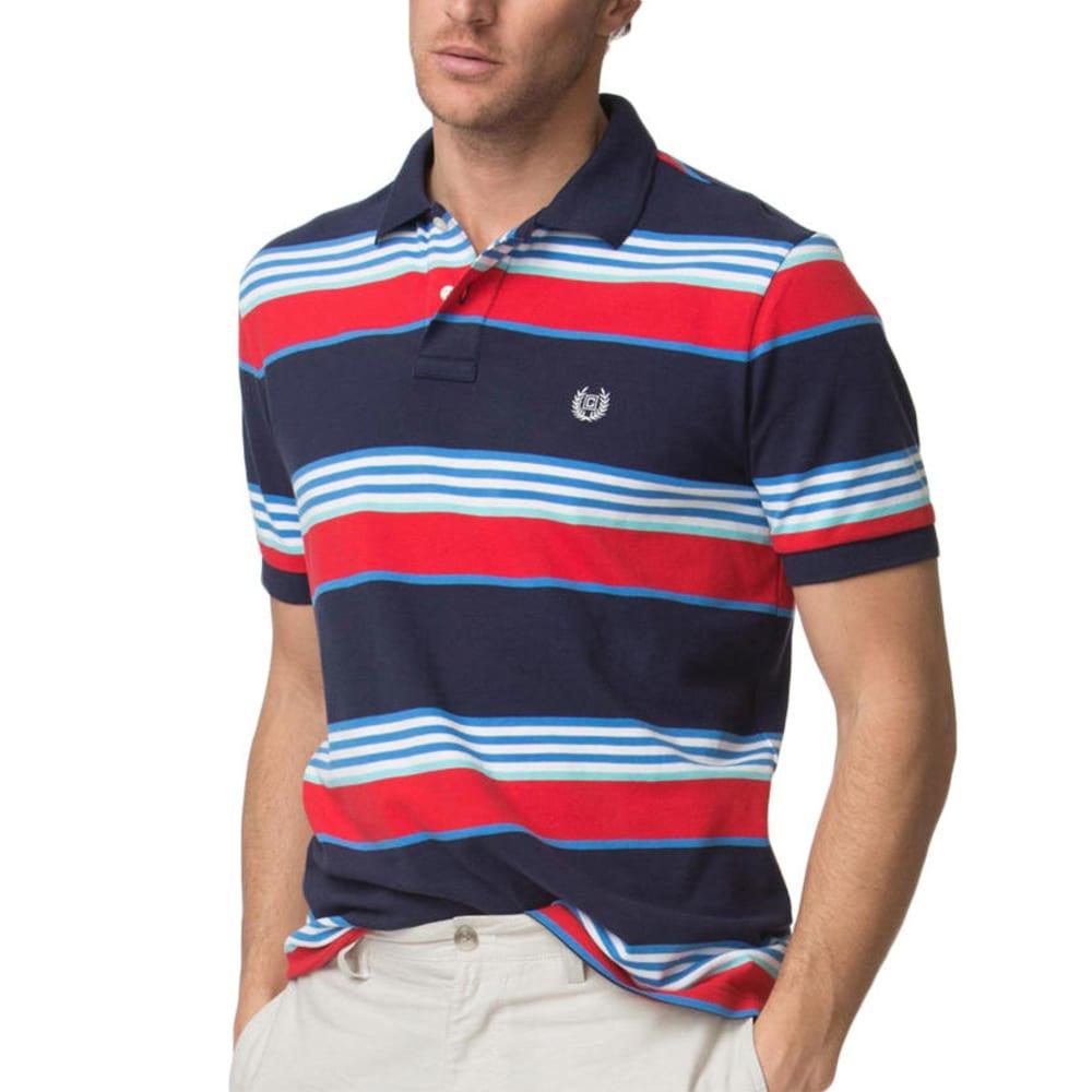 CHAPS Men's Cotton Stretch Short-Sleeve Polo Shirt - NEWPORT NVY-001