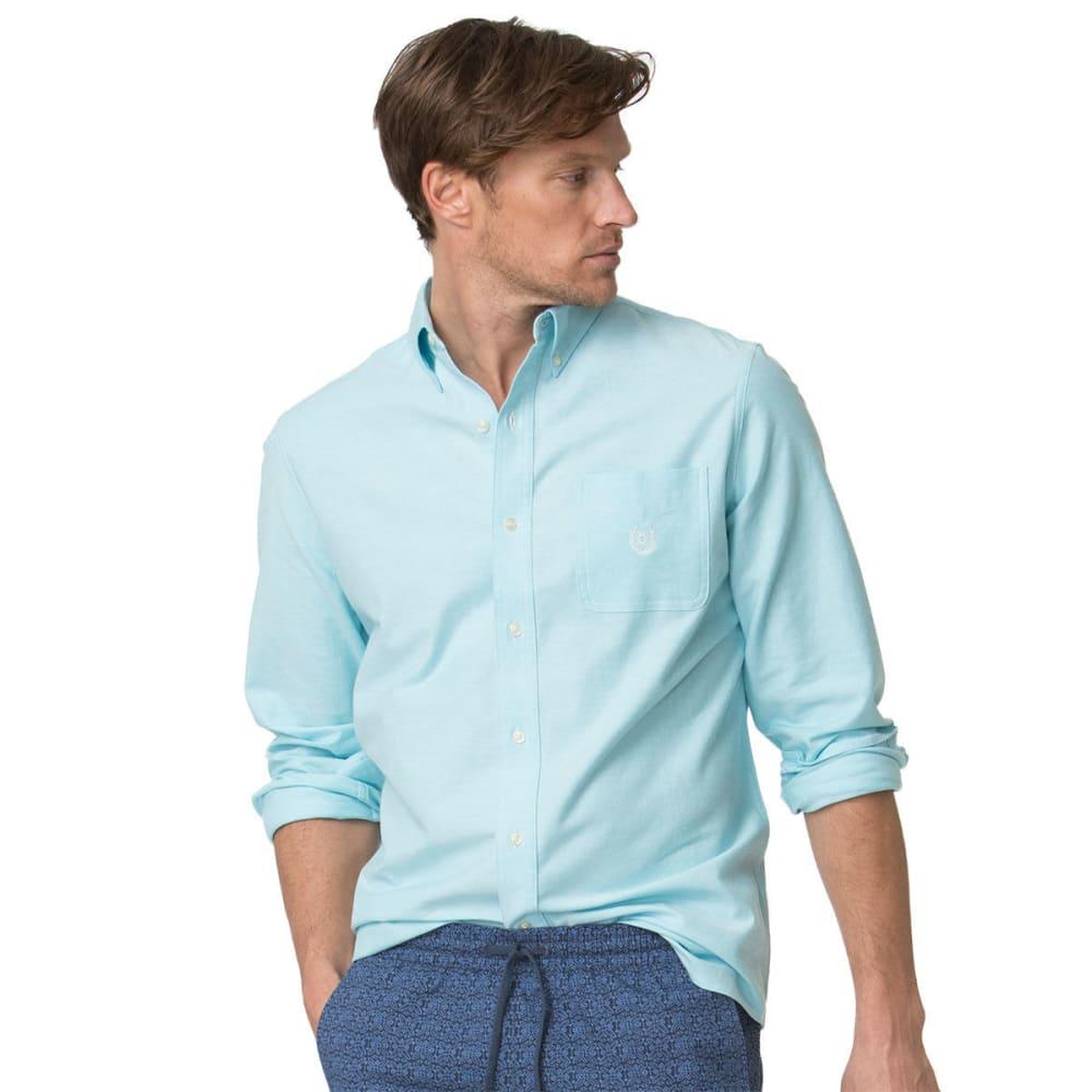 CHAPS Men's Stretch Woven Oxford Long-Sleeve Shirt - TROPIC TURQ-001