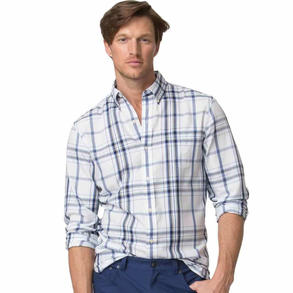 CHAPS Men's Easy Care Twill Long Sleeve Woven Shirt - NEWPORT NVY-002