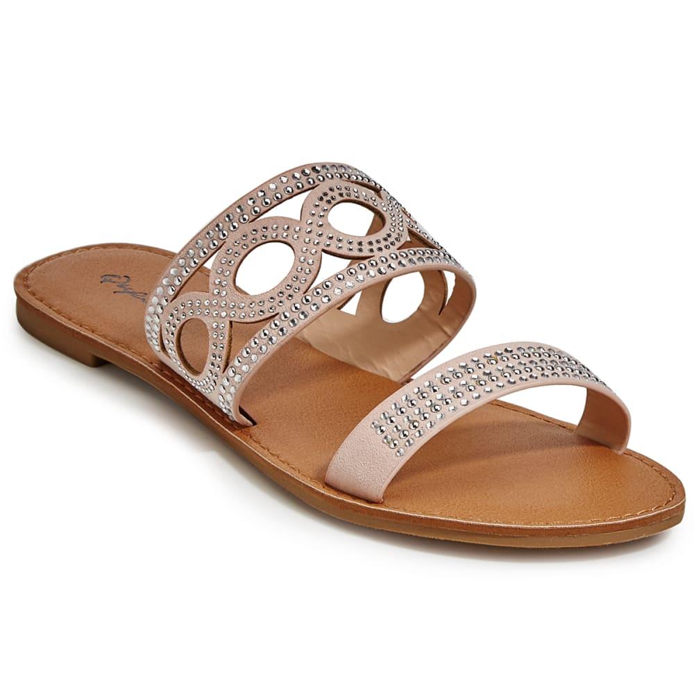 QUPID Women's Athena-1086A Slide Sandals, Blush - BLUSH