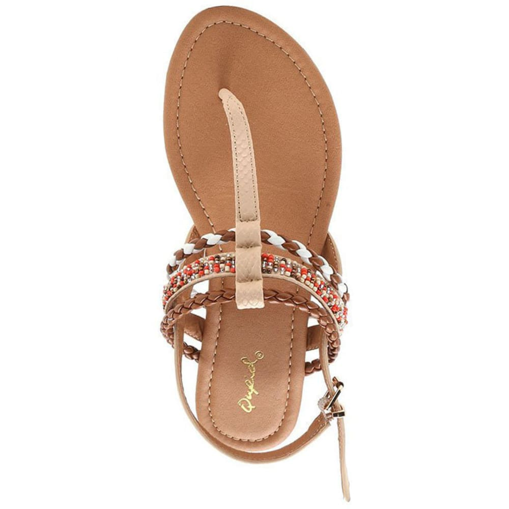 QUPID Women's Archer-187 T-Strap Sandals, Nude - NUDE