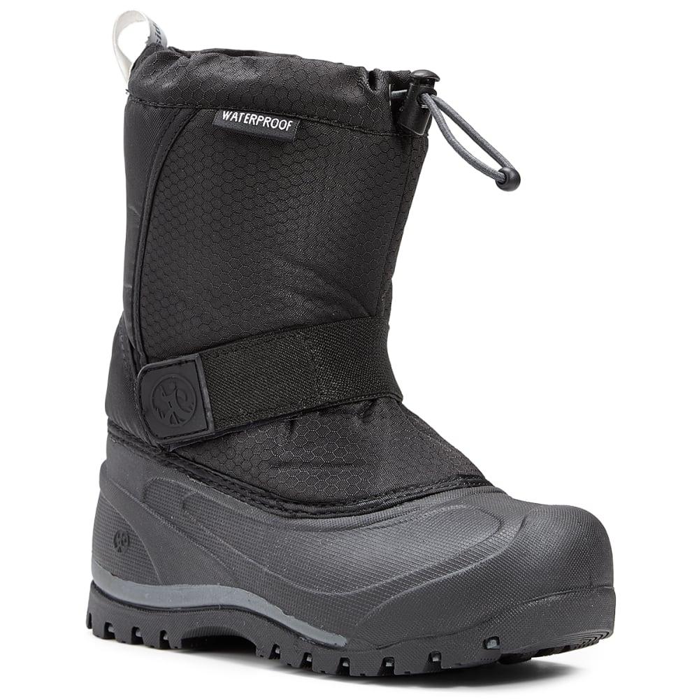 NORTHSIDE Big Boys' Zephyr Waterproof Insulated Snow Boots, Onyx - BLACK