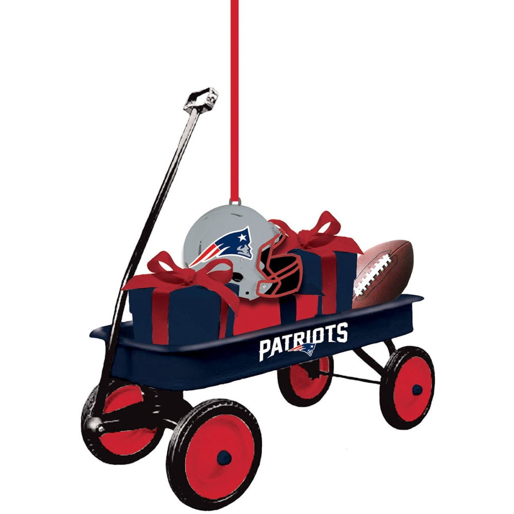 NEW ENGLAND PATRIOTS Team Wagon Ornament - PATRIOTS