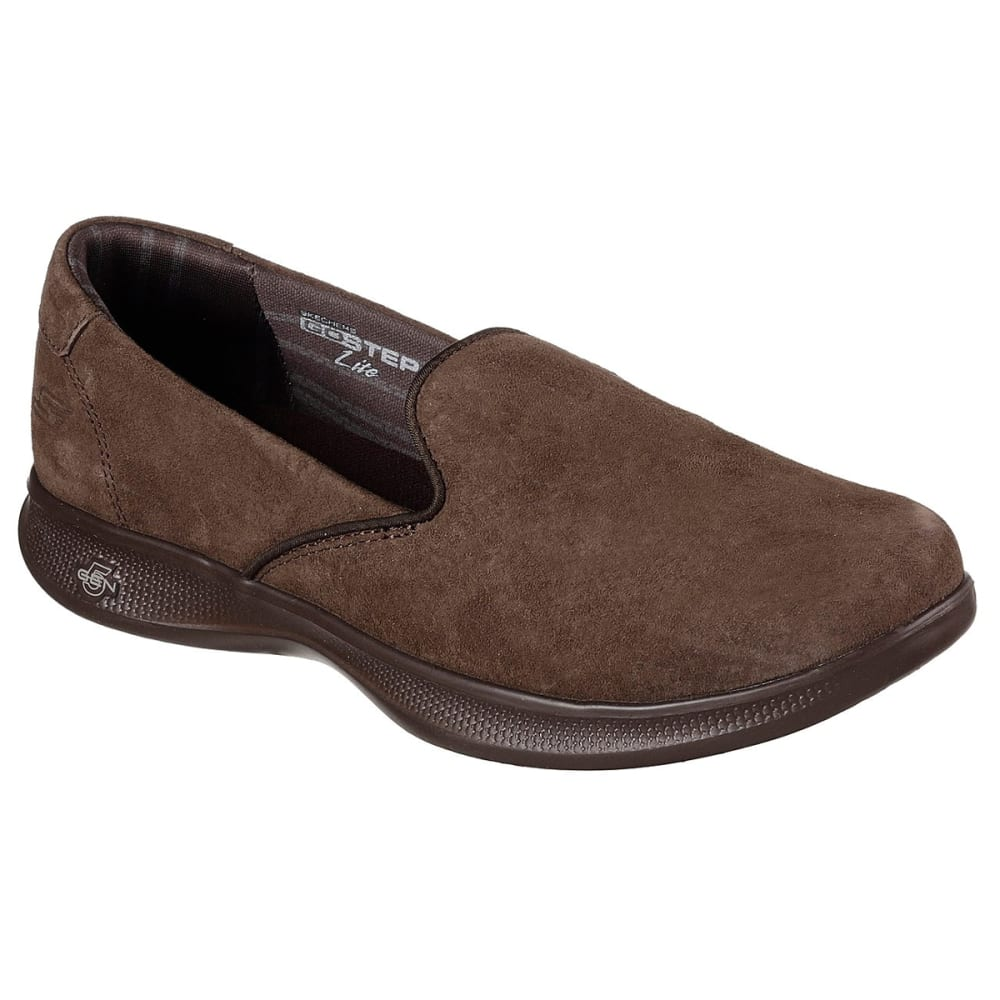 Skechers Women's Skechers Go Step Lite -  Indulge Casual Slip-On Shoes - Brown, 6.5