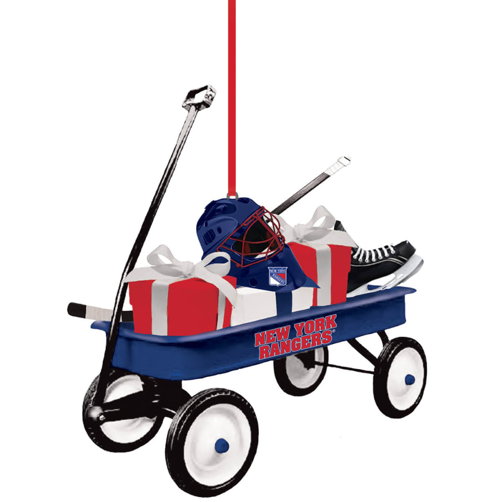NEW YORK RANGERS Team Wagon Ornament - RANGERS