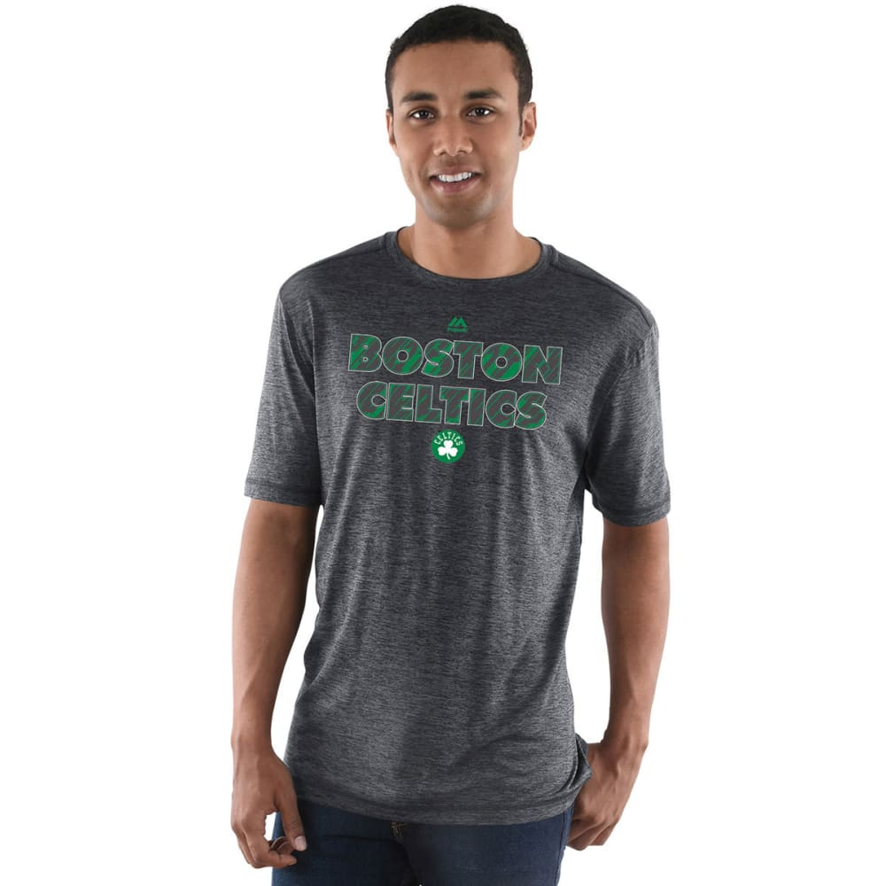 BOSTON CELTICS Men's Future Highlight Play Short Sleeve Tee - CHAR HEATHER