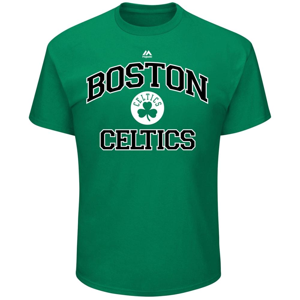 BOSTON CELTICS Men's Heart and Soul Short Sleeve Tee - KELLY GREEN