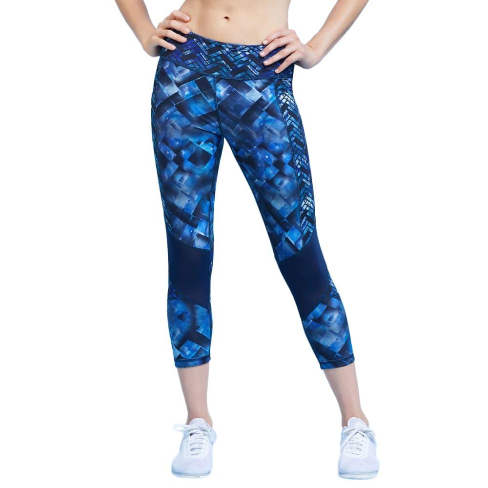 MARIKA Women's Kendall Remix Reversible Capri Leggings - BLUE DANUBE-4O9