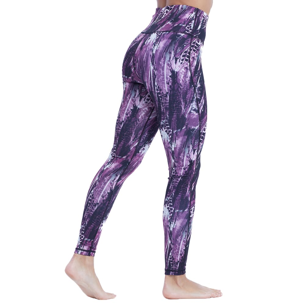 BALANCE COLLECTION BY MARIKA Women's Cambria Reversible Leggings - MAGENTA FEATHER-96V