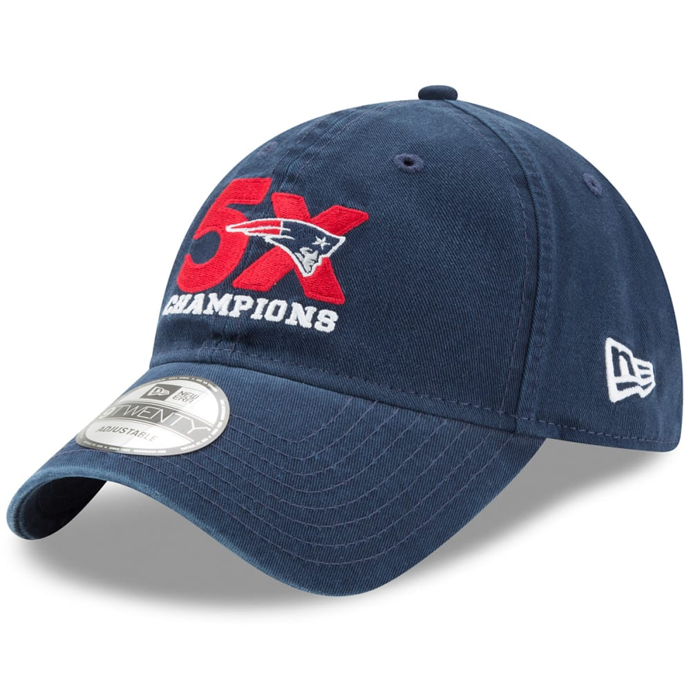NEW ENGLAND PATRIOTS 5-Time Champions 9TWENTY Adjustable Hat - NAVY