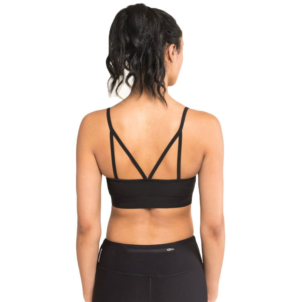 RBX Women's Poly/Spandex Sports Bra with Demi Cups - BLACK-A