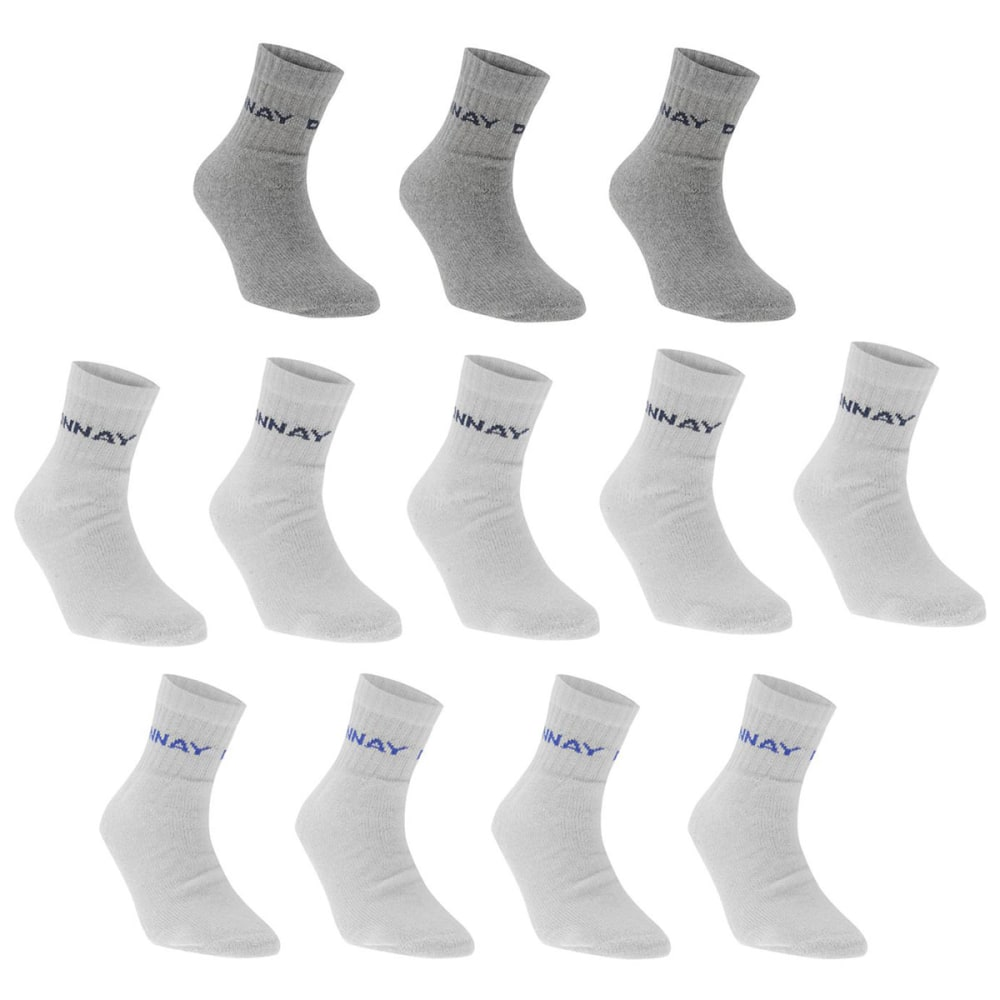 DONNAY Men's Quarter Socks, 12 Pack - WHITE