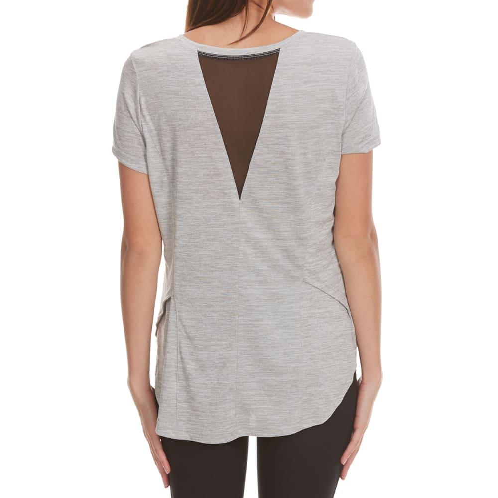APANA Women's Back V Insert Short-Sleeve Top - LIGHT GREY