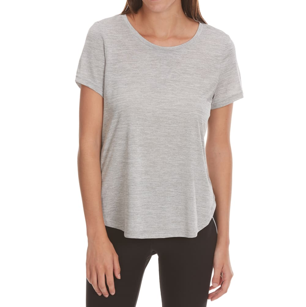 APANA Women's Back V Insert Short-Sleeve Top - LIGHT GREY