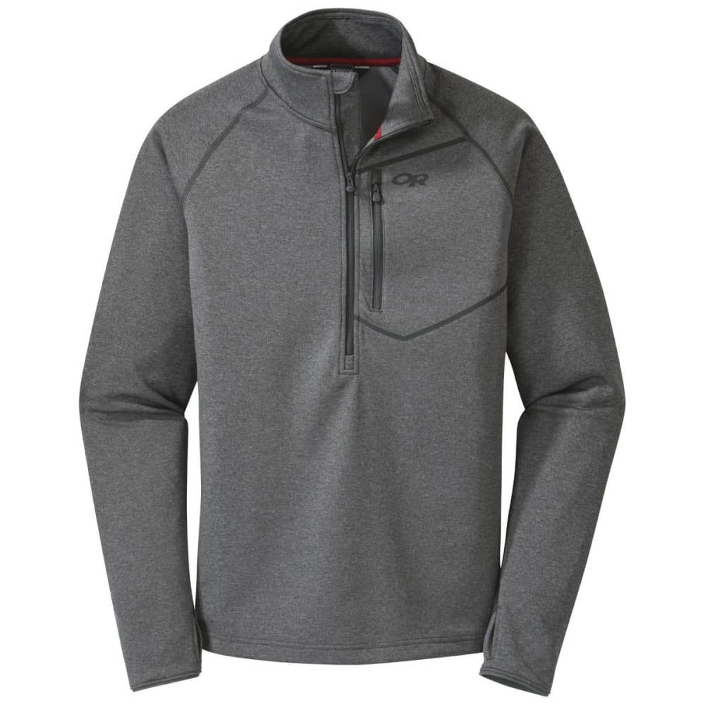 OUTDOOR RESEARCH Men's Starfire Zip Top - CHARCOAL