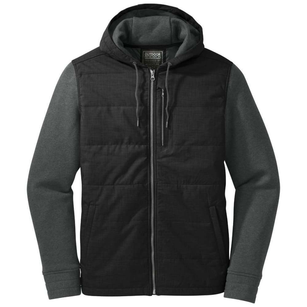OUTDOOR RESEARCH Men's Revy Hooded Jacket - BLACK/CHARCOAL