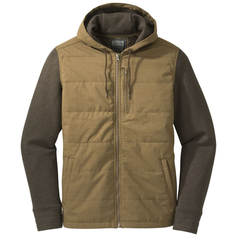 OUTDOOR RESEARCH Men's Revy Hooded Jacket - COYOTE/EARTH