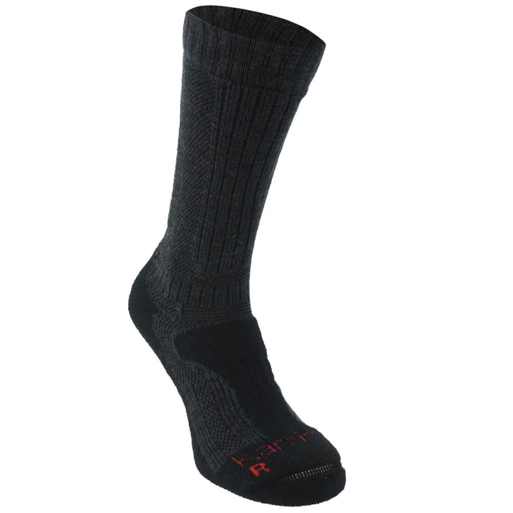 Karrimor Men's Merino Fiber Midweight Hiking Socks - Black, 13+