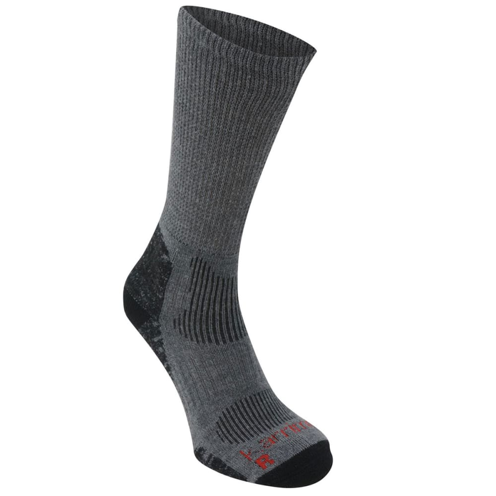 KARRIMOR Men's Merino Fiber Lightweight Hiking Socks - GREY/BLK