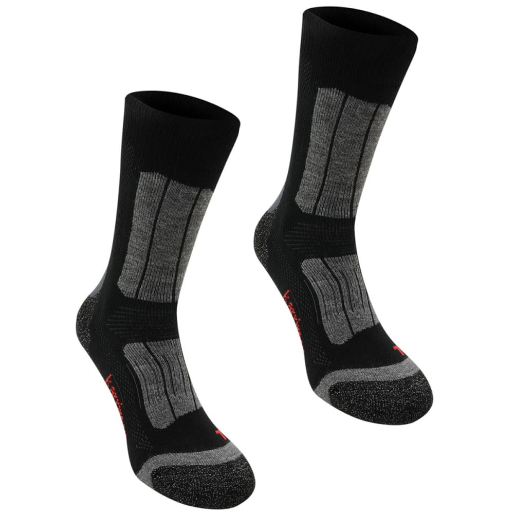 KARRIMOR Kids' Trekking Socks, 2 Pack - BLACK