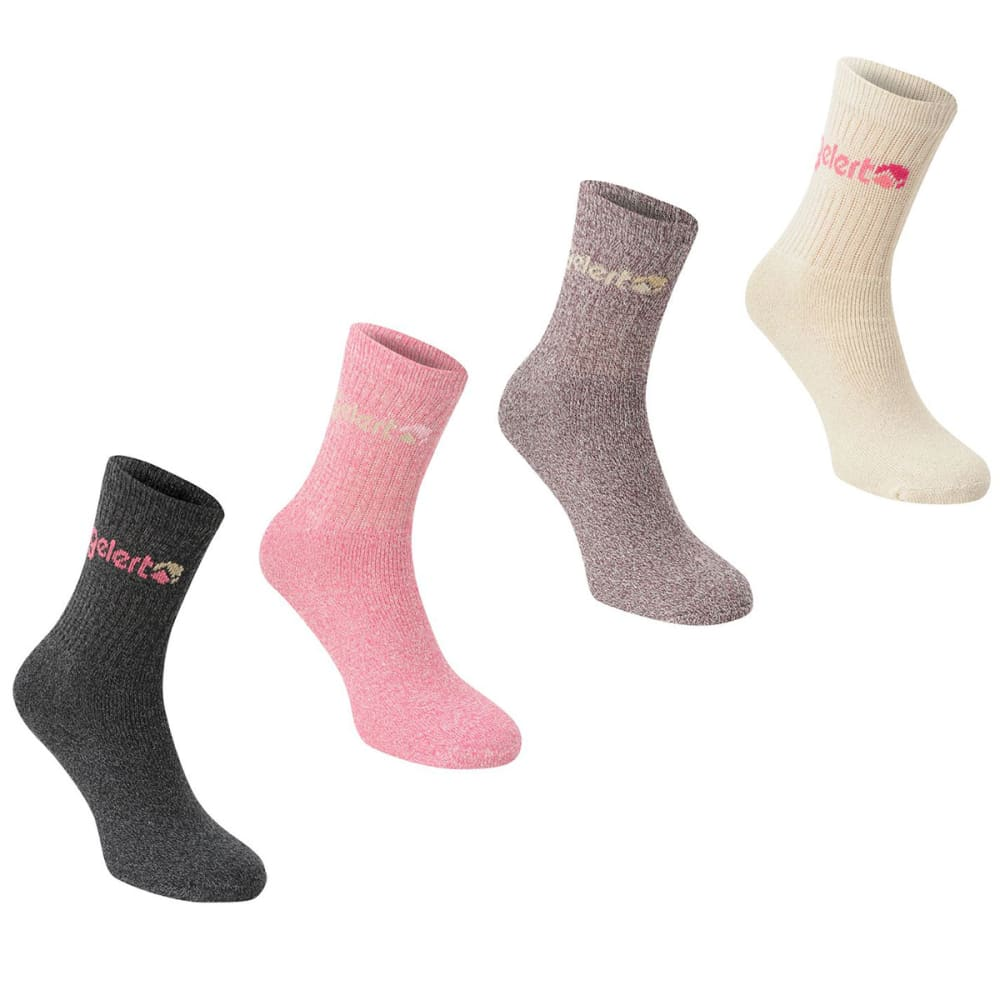 GELERT Women's Hiking Boot Socks, 4 Pack - PINK