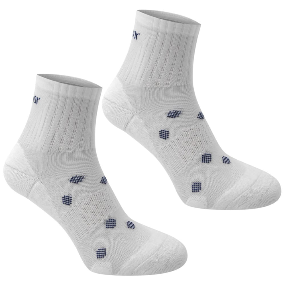 KARRIMOR Women's Quarter Running Socks, 2 pack - WHITE