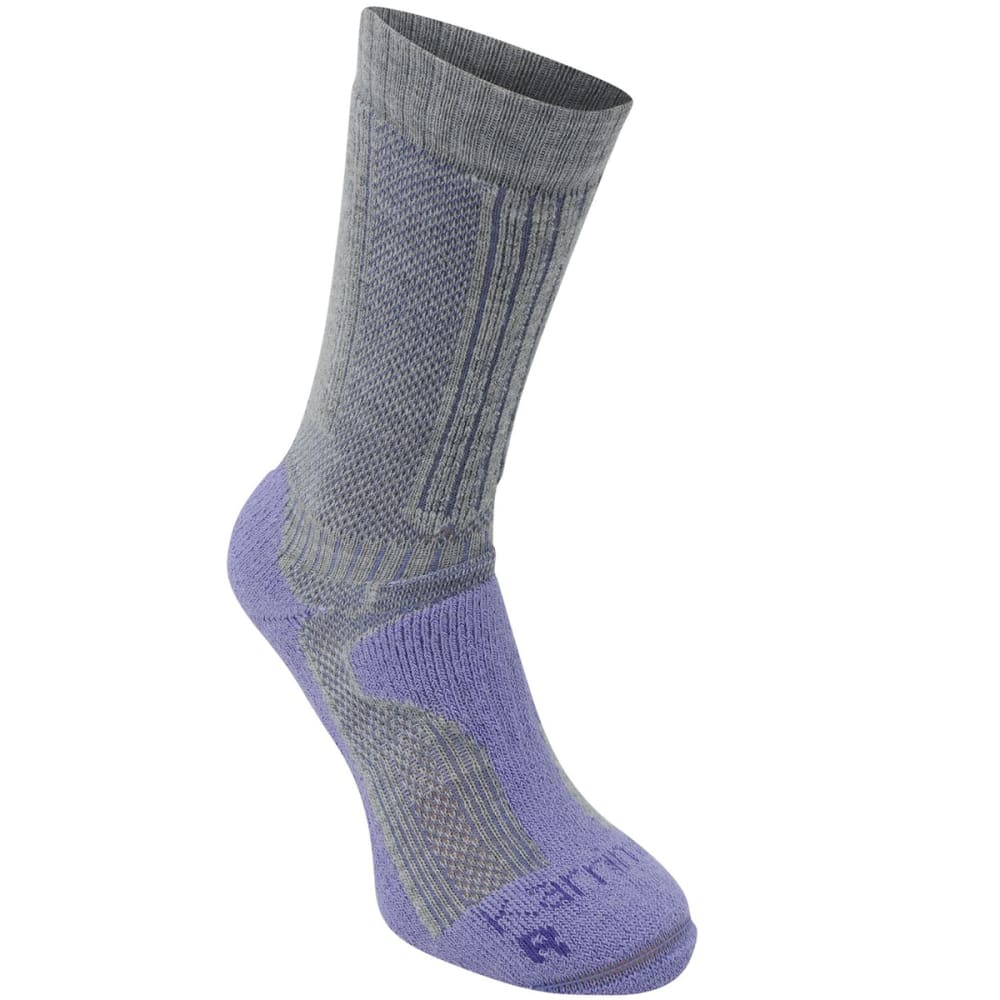 KARRIMOR Women's Merino Fiber Midweight Hiking Socks - GREY/LILAC