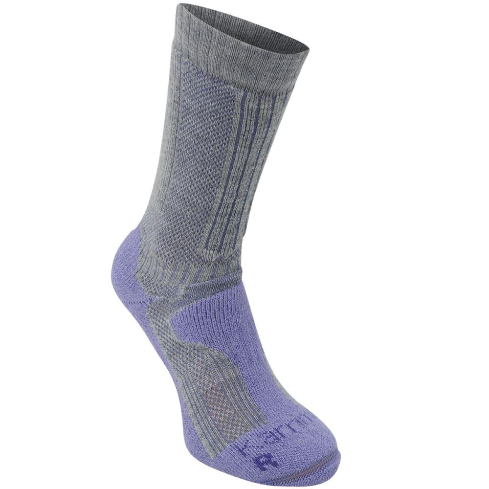 KARRIMOR Women's Merino Fiber Midweight Hiking Socks - GREY/LILAC