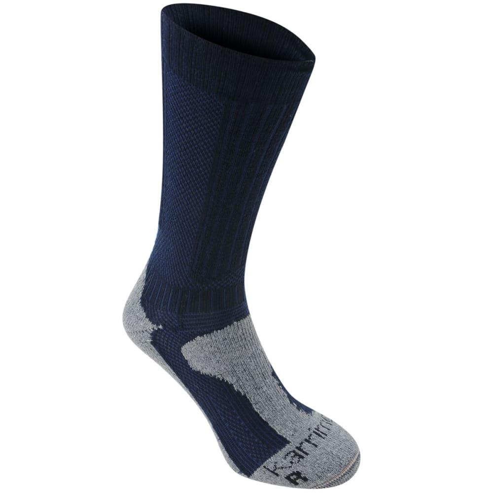 KARRIMOR Women's Merino Fiber Midweight Hiking Socks - NAVY/GREY