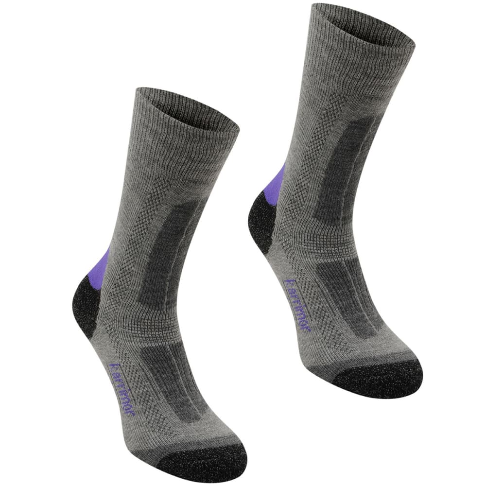 KARRIMOR Women's Trekking Socks - GREY/PURPLE