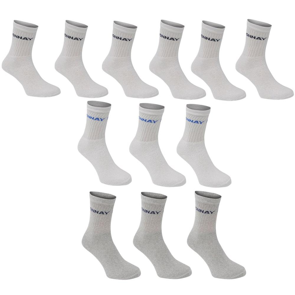 DONNAY Men's Crew Socks, 12 Pack - WHITE