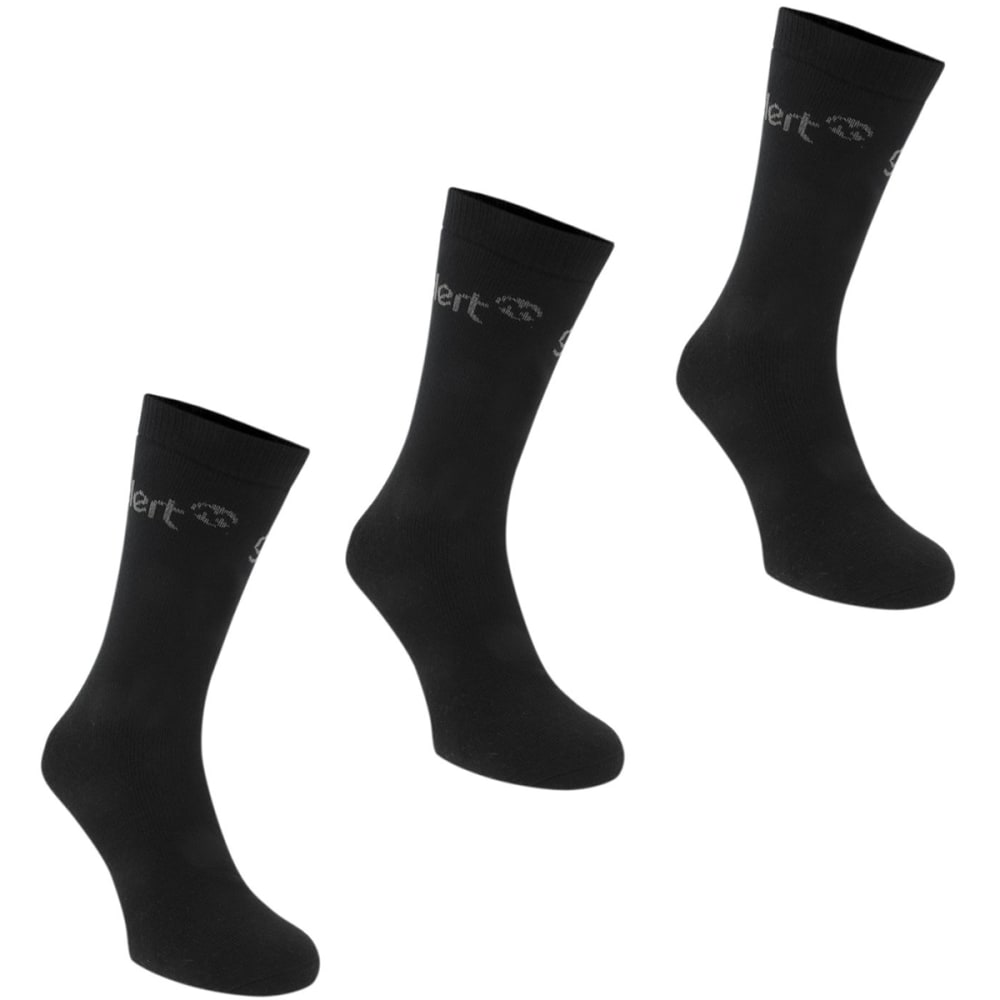 GELERT Men's Thermal Socks, 3 Pack - BLACK