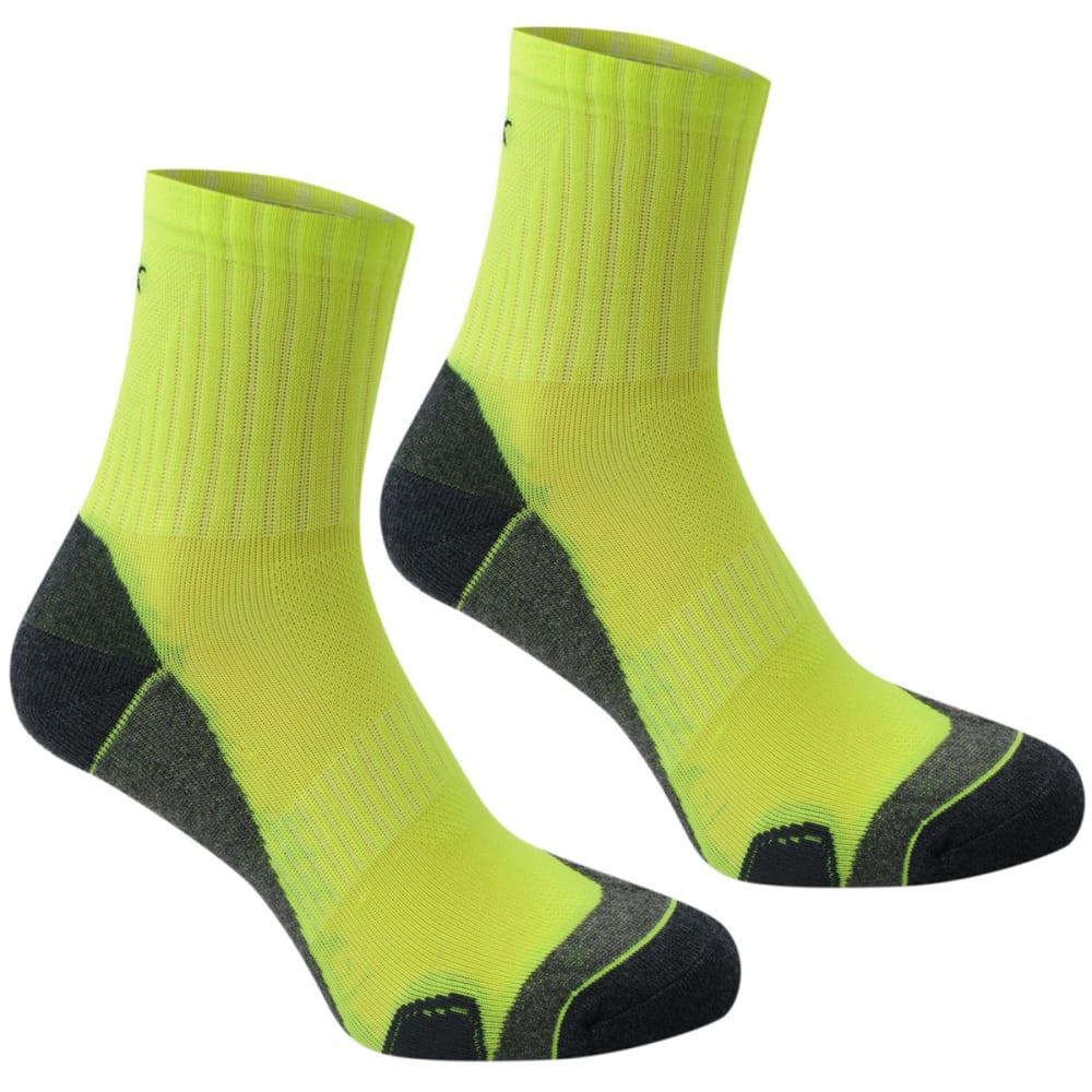 KARRIMOR Men's Dri Skin Running Socks, 2 Pack - FLORESSENT YELLOW