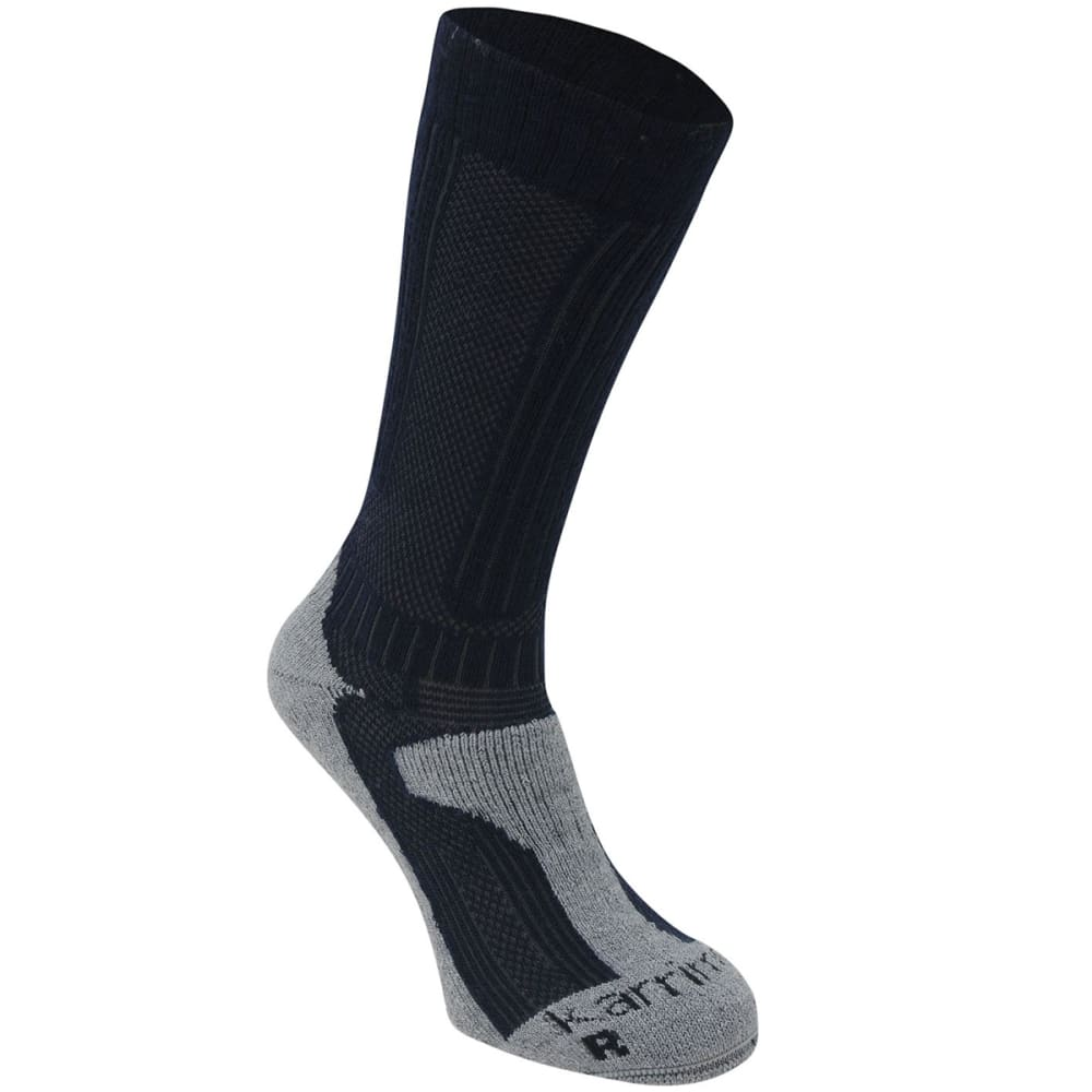 Karrimor Men's Merino Fiber Midweight Hiking Socks - Blue, 8-12