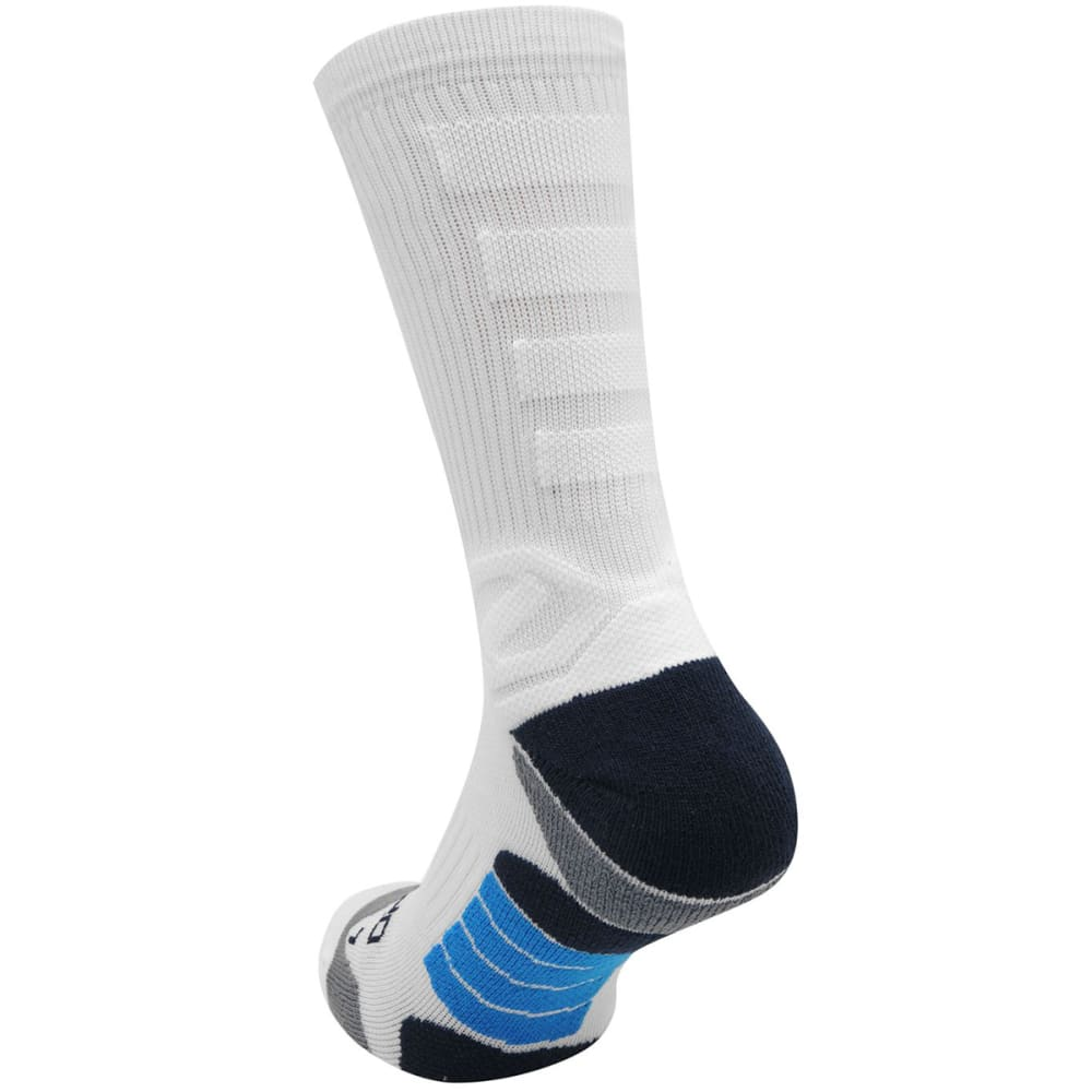 SONDICO Men's Elite Crew Running Socks - WHITE