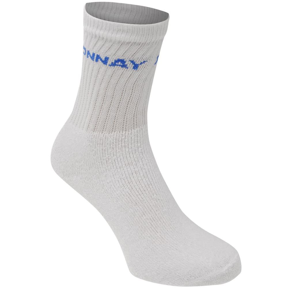 DONNAY Kids' Crew Socks, 12 Pack - WHITE