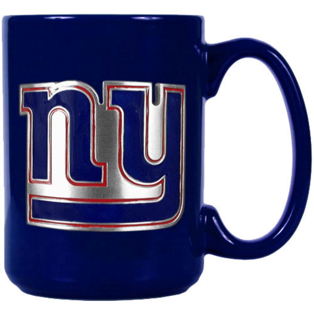 NEW YORK GIANTS 3D Metal Emblem Mug - ROYAL BLUE