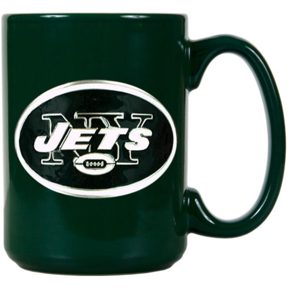 NEW YORK JETS 3D Metal Emblem Mug - GREEN
