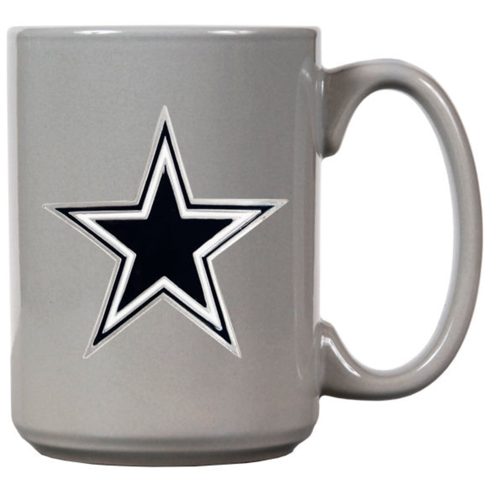 DALLAS COWBOYS 3D Metal Emblem Mug - GREY